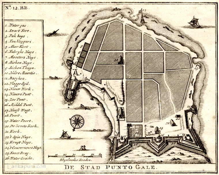 City of Galle -1726
