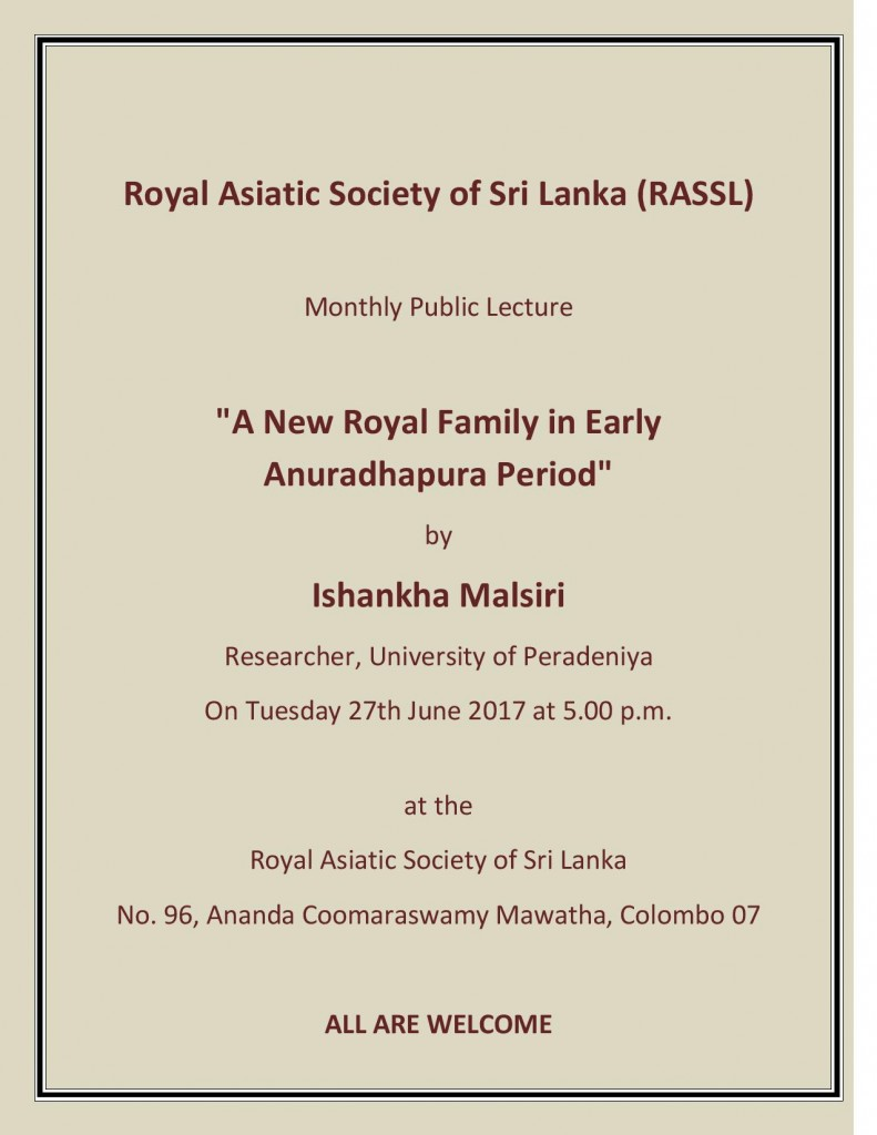 Royal Asiatic Society of Sri Lanka 2017 June Lecture-page-001